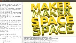Capture du résultat rendu avec OpenScad