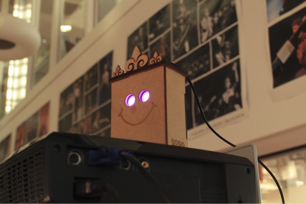 boitier connecté à l'ordinateur